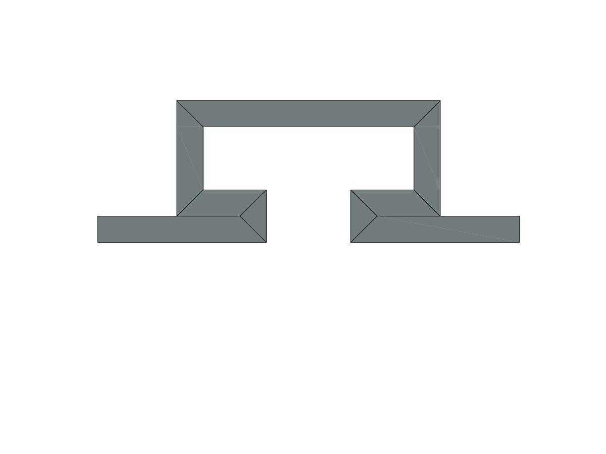Profilo led piano 2 fonti-sezione