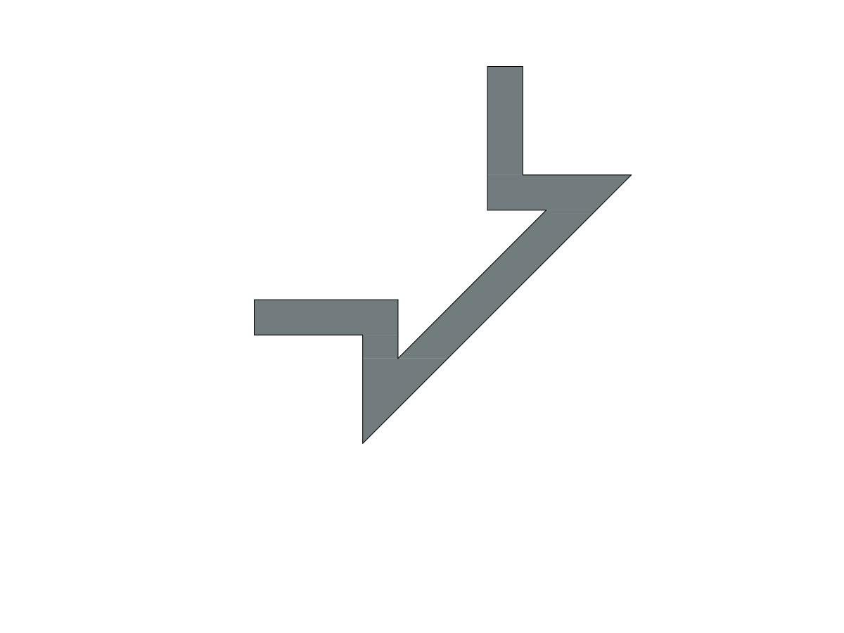 Profilo led angolo sezione inclinata-sezione