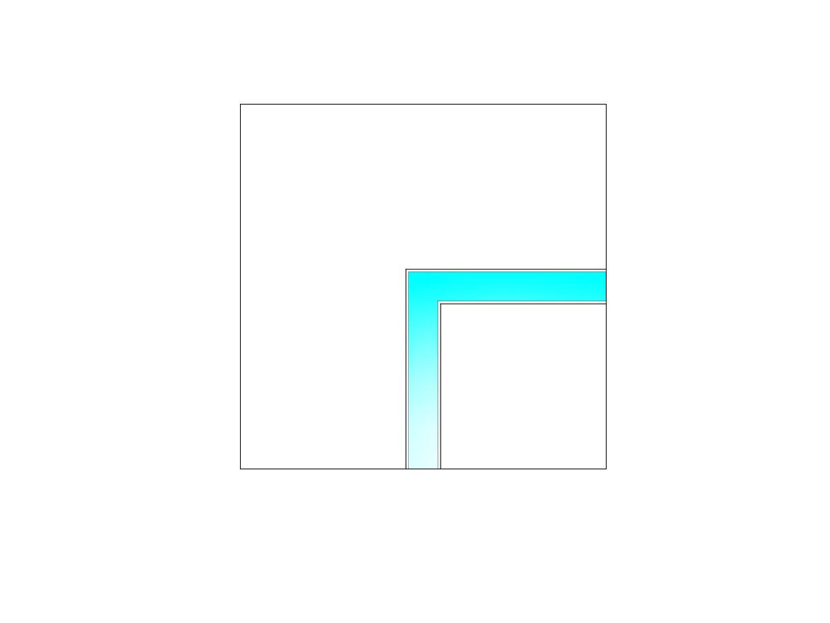 Raccordo LED ad angolo-sezione