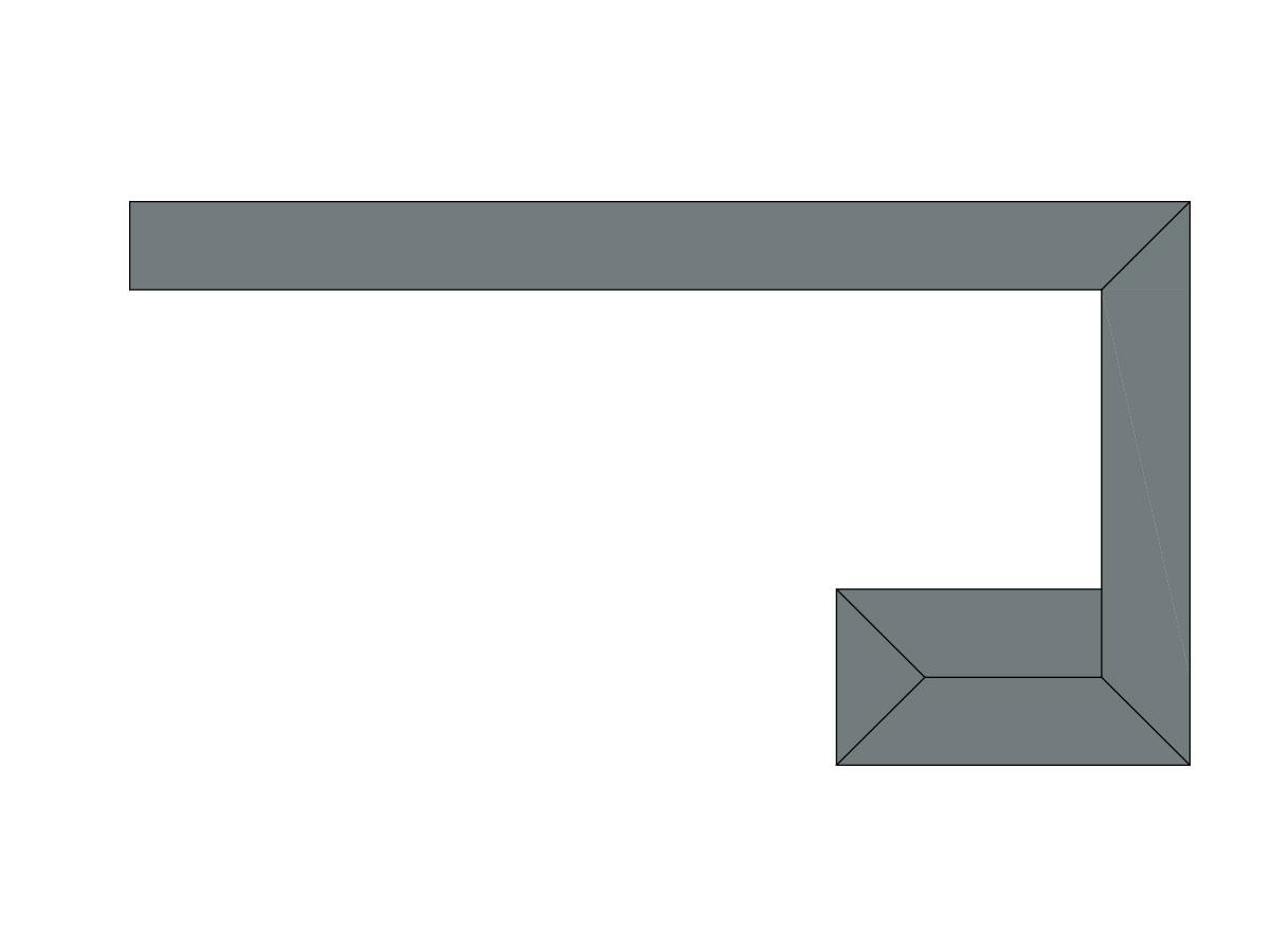 Profilo led trave perimetrale-sezione