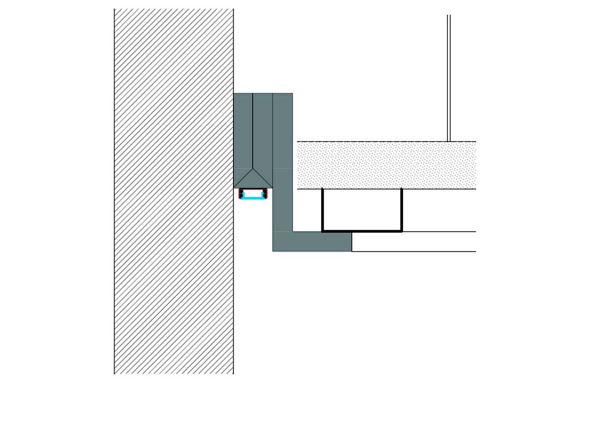 Led profile wash wall-sezione
