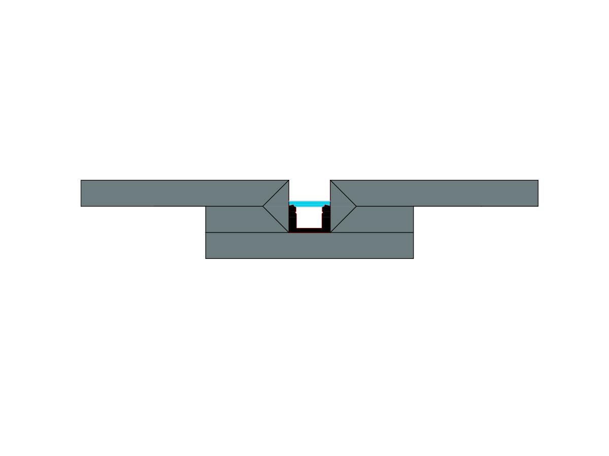 Profilo led piano Microfuga-sezione
