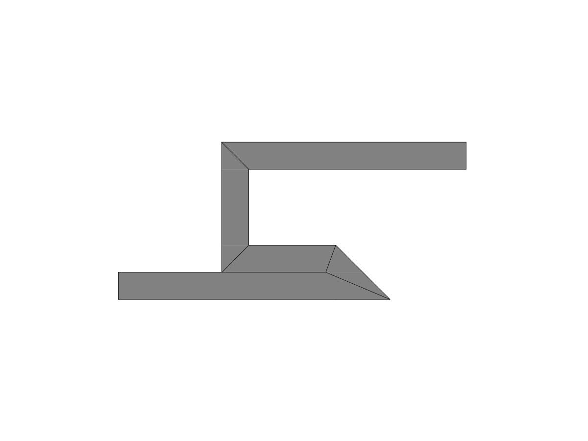 Profilo led angolo a luce indiretta-sezione