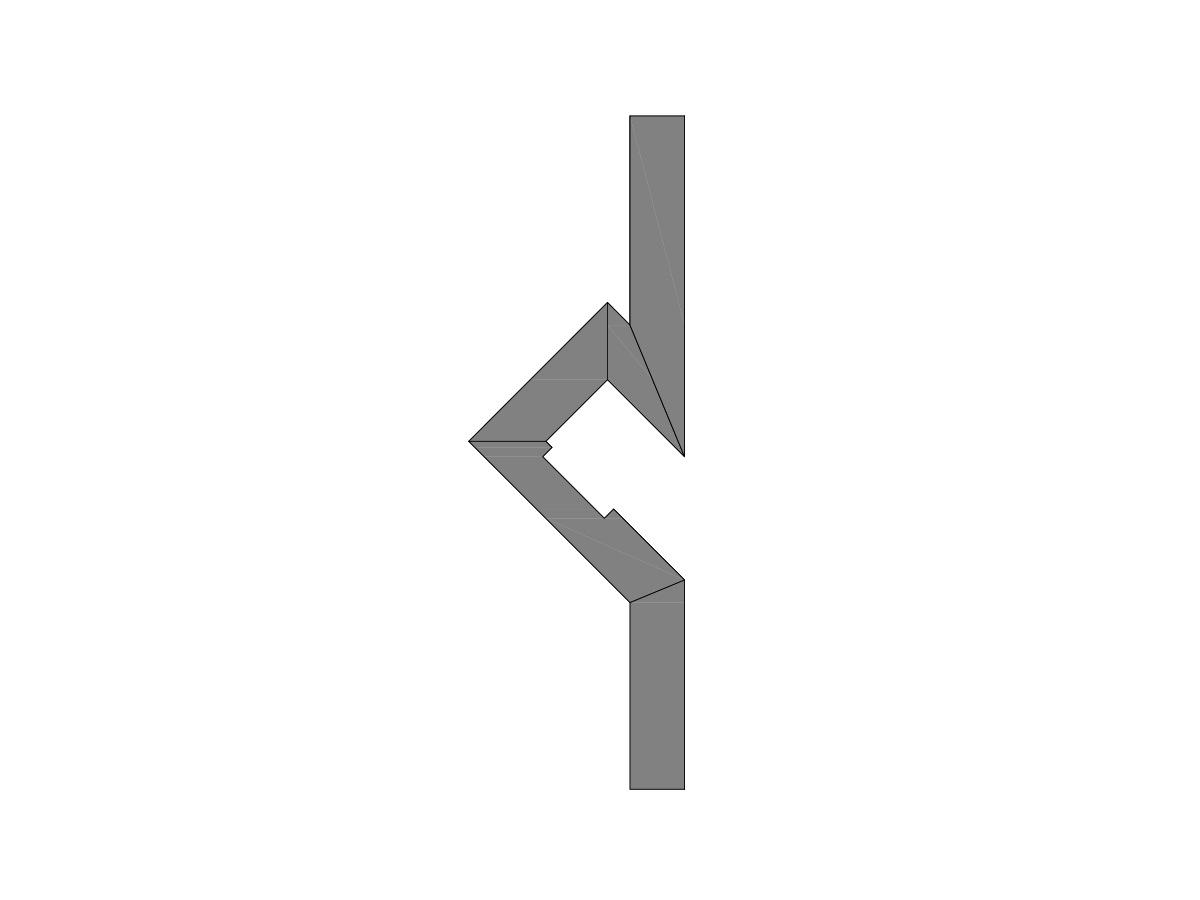 Profilo led segnapassi a luce indiretta-sezione