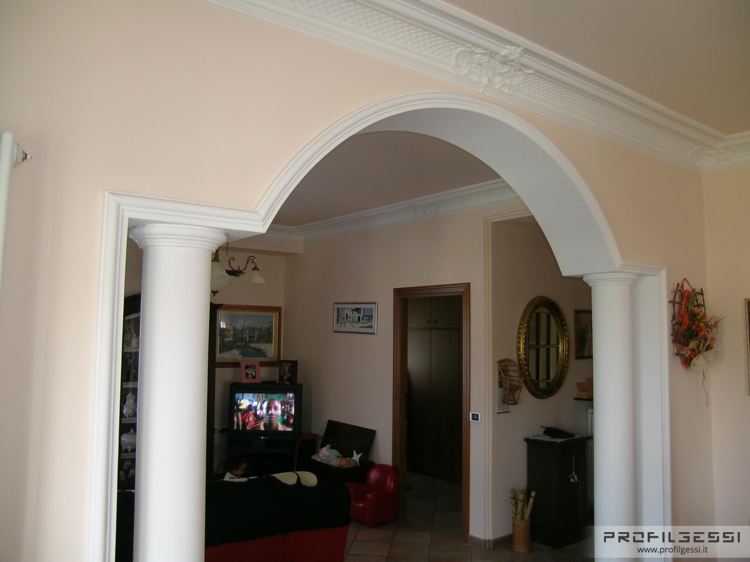 Forme su misura di qualsiasi genere in gesso e materiali for Archi per interni appartamenti