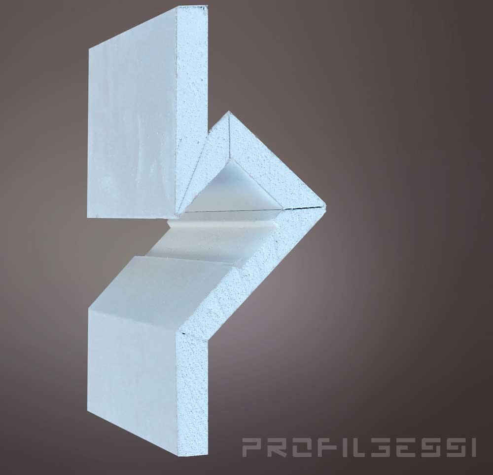 Profilo led segnapassi a luce indiretta  Profili led in gesso rivestito  Profilgessi