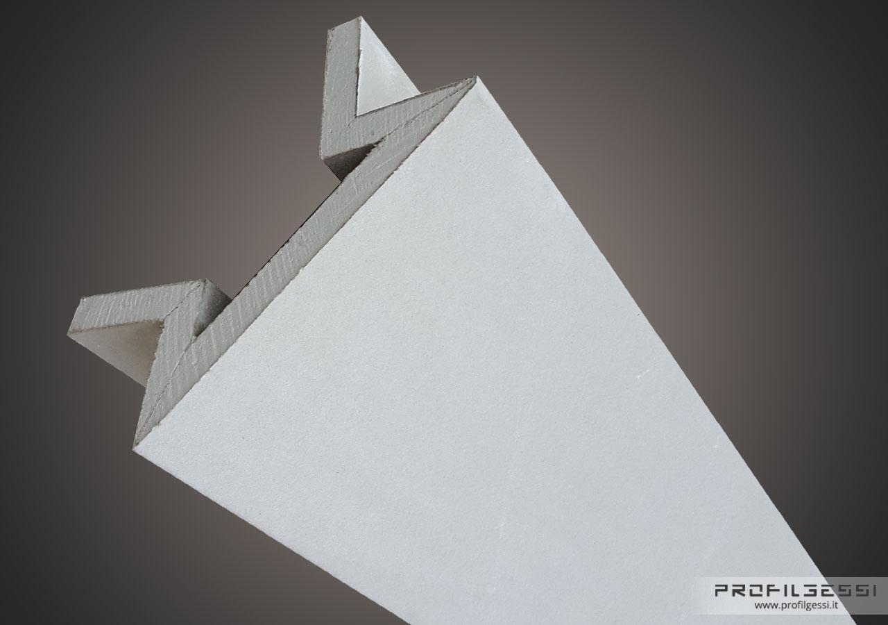 Profilo led angolo sezione inclinata-1374