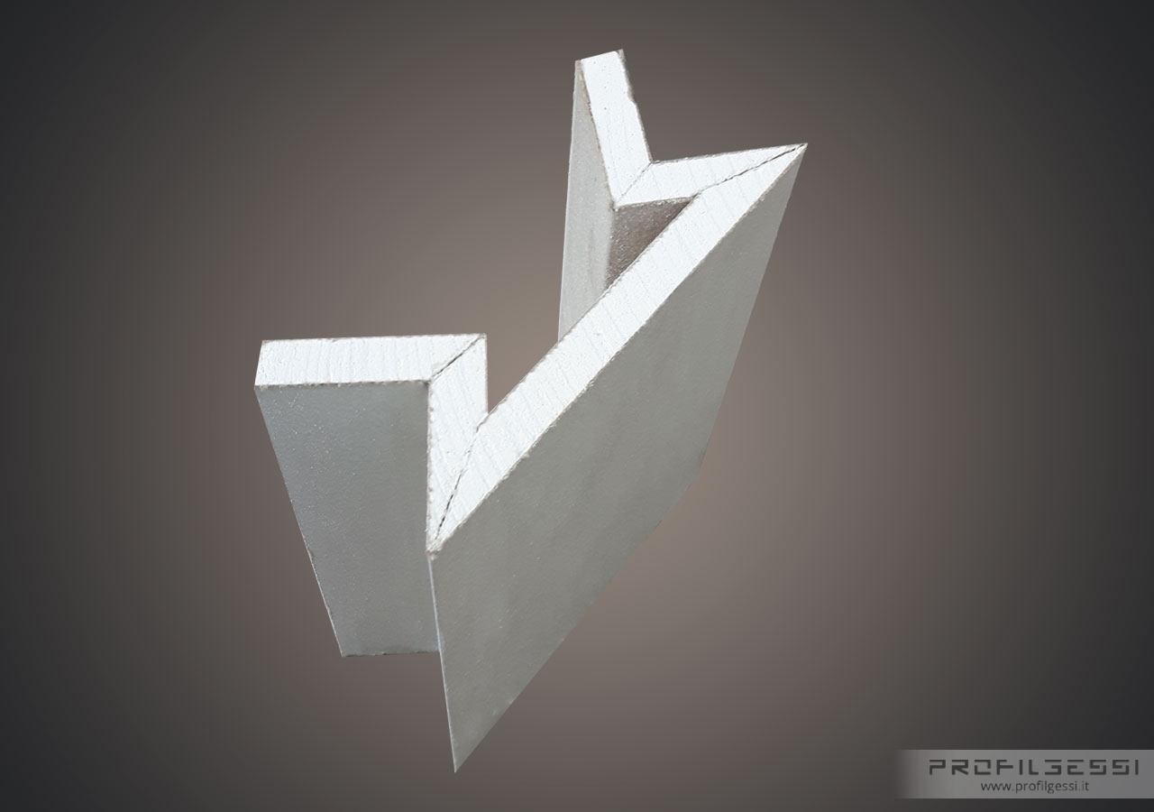 Profilo led angolo sezione inclinata-1373