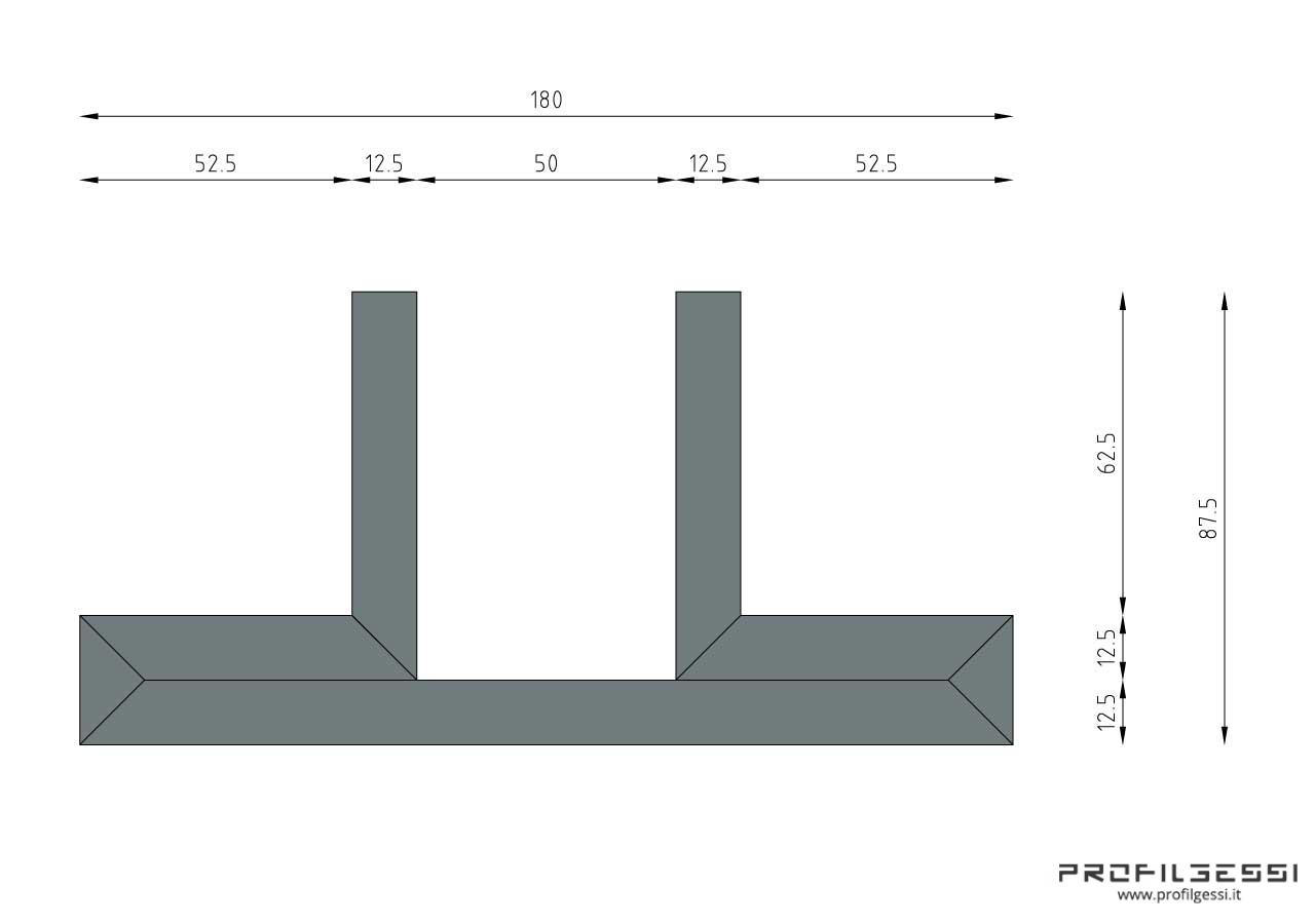 Profilo led trave 2 fonti-1328