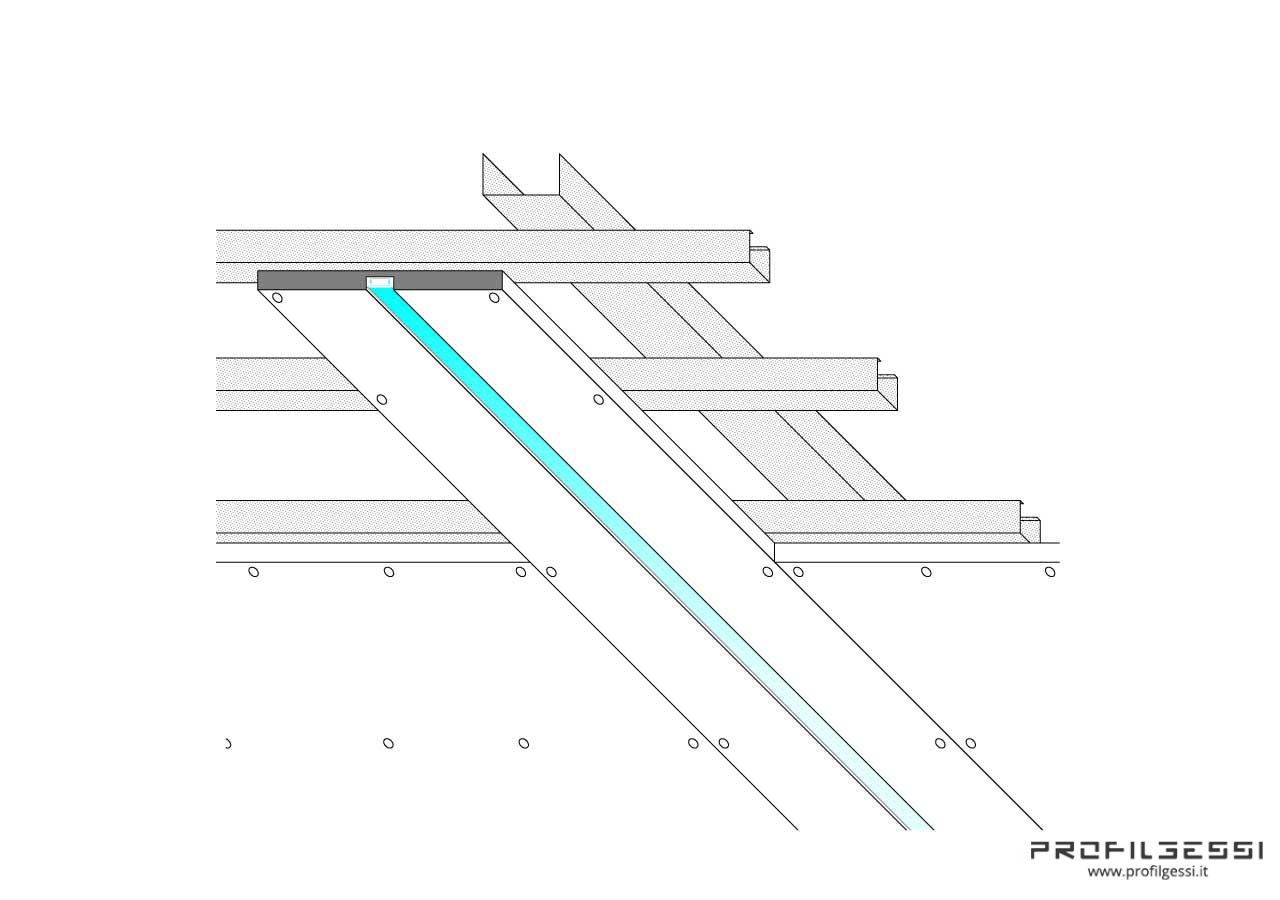 Profilo led piano luce diretta-1333