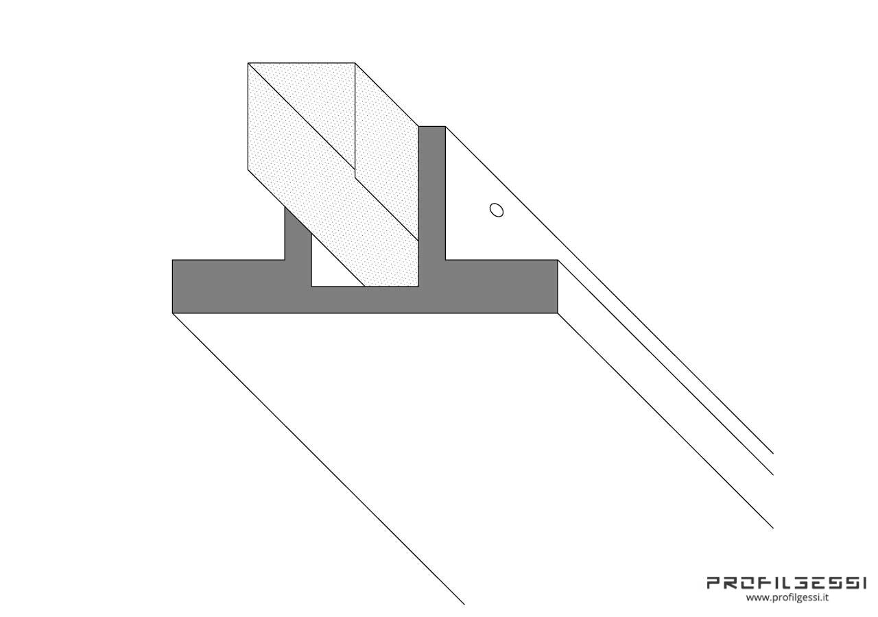 Profilo led trave 2 fonti-1330