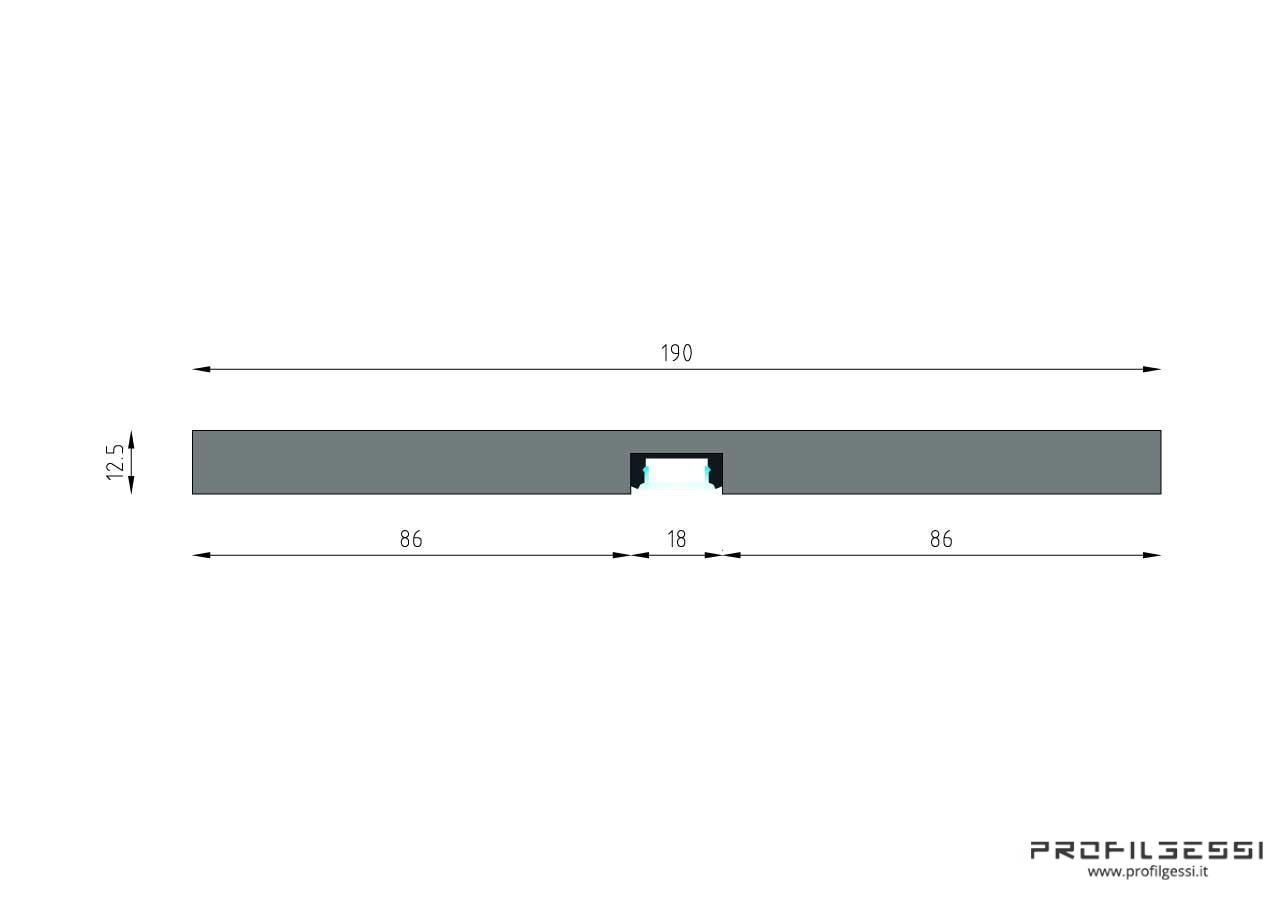 Profilo led piano luce diretta-1331