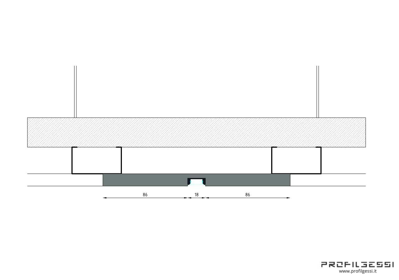 Profilo led piano luce diretta-1332