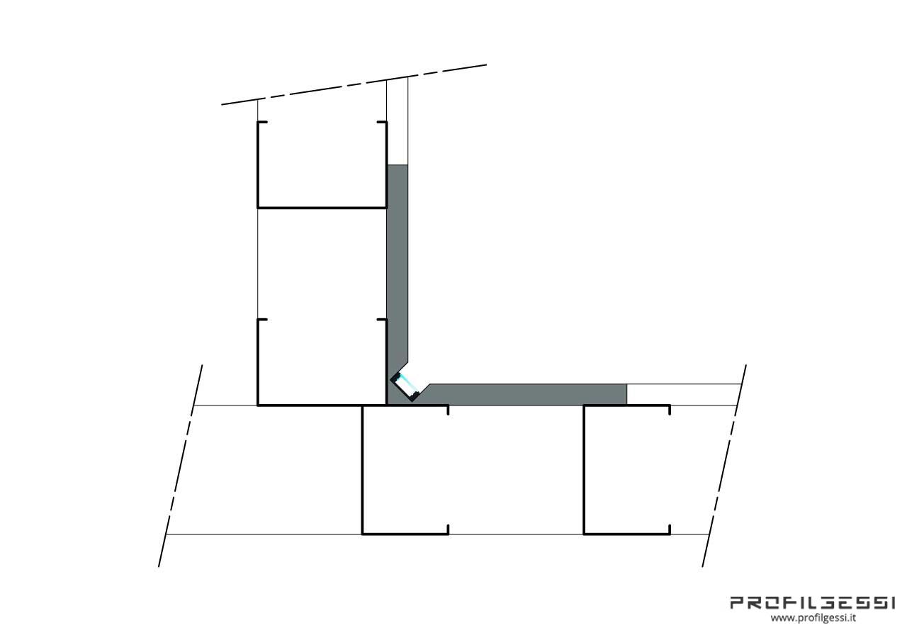 Profilo Led Luce diretta in angolo-1358