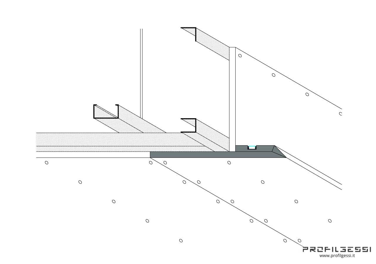 Profilo Led sotto veletta luce indiretta-1368