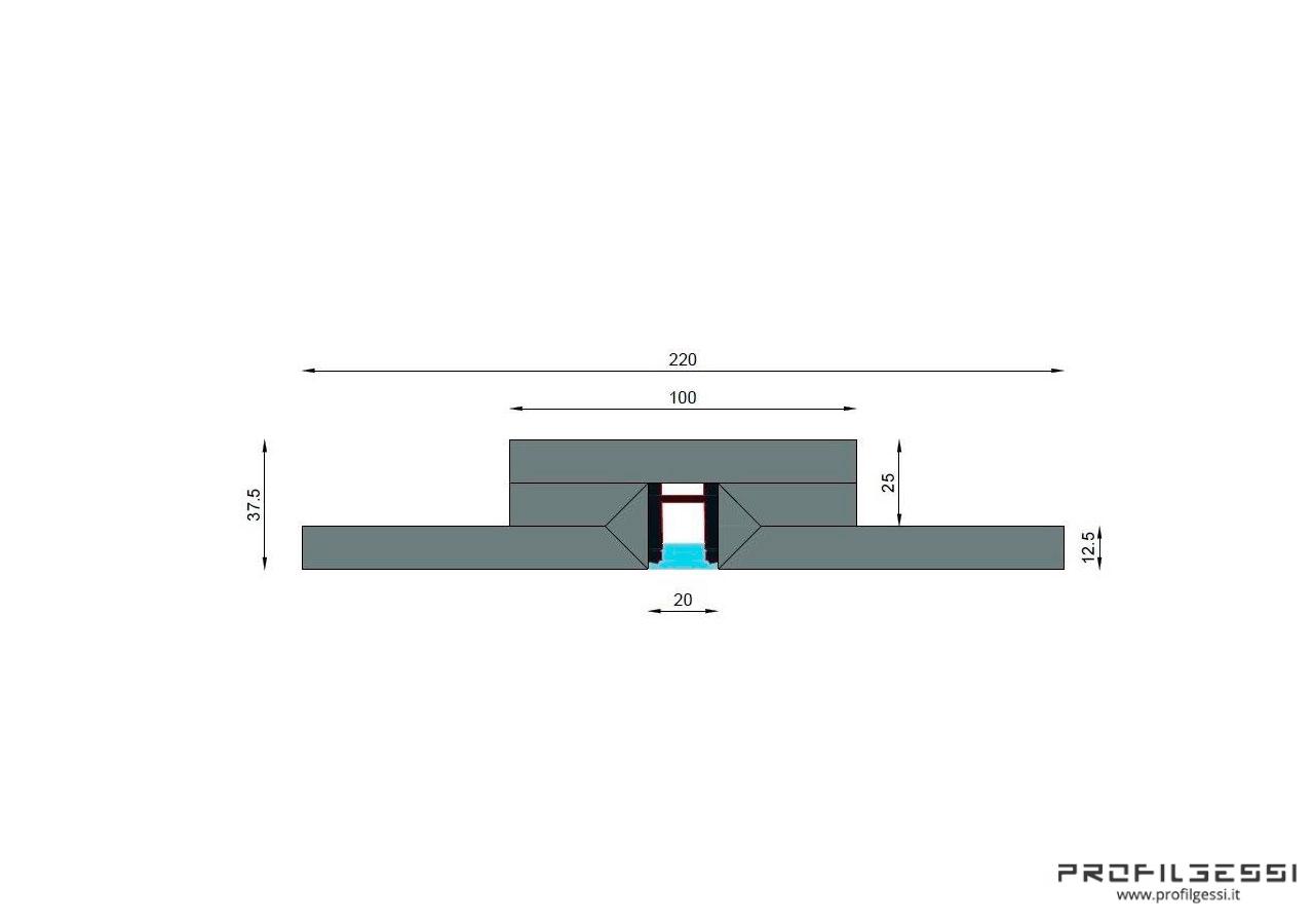 Profilo led piano luce diretta alta potenza HIGH POWER-1579