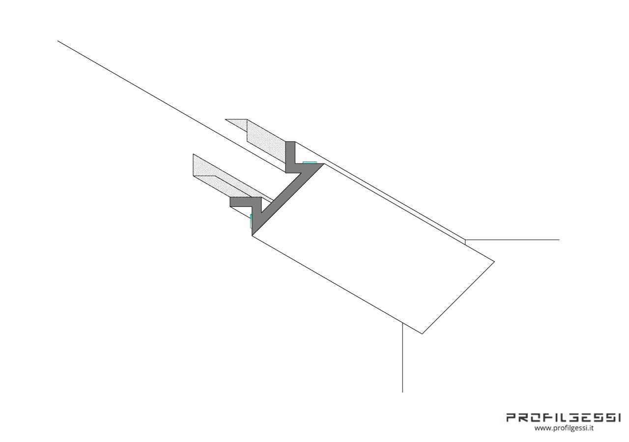 Profilo led angolo sezione inclinata-1326