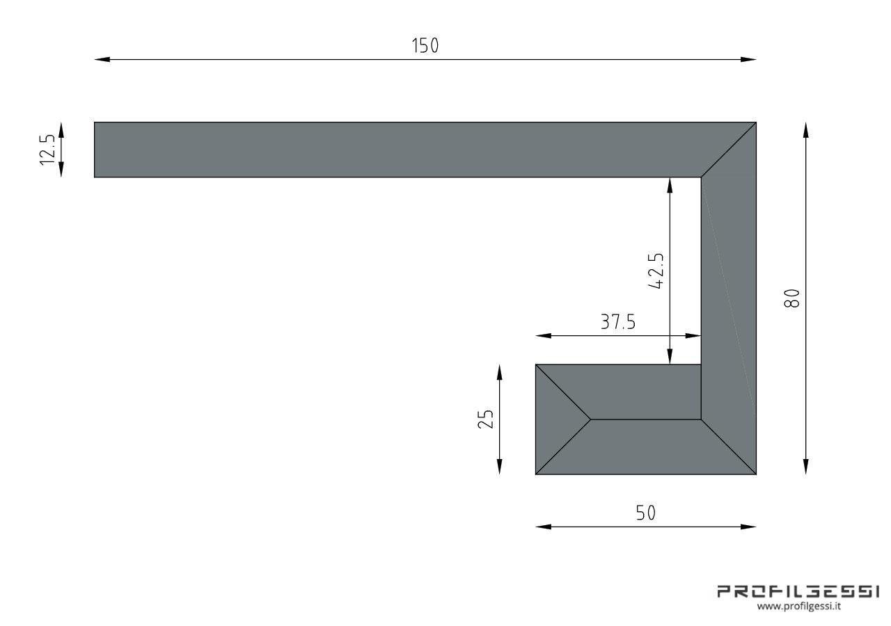 Profilo led trave perimetrale-1484