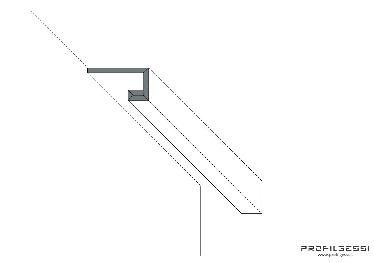 Profilo led trave perimetrale-1485