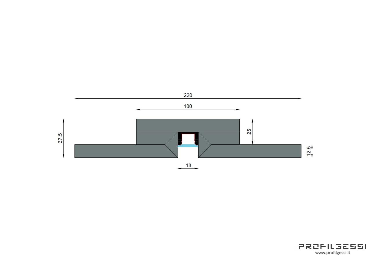 Profilo led piano Microfuga-1592