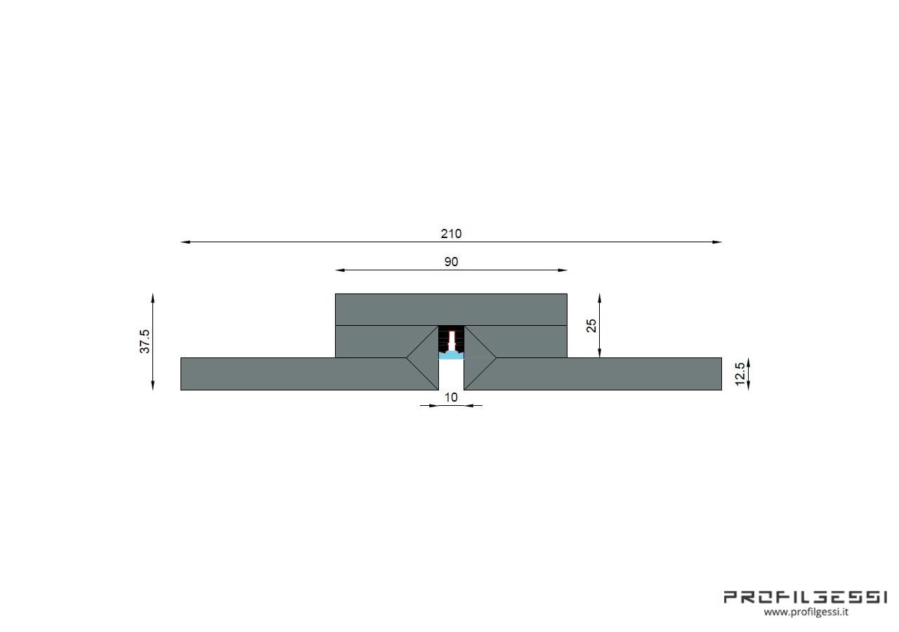 Profilo led piano Microline-1604
